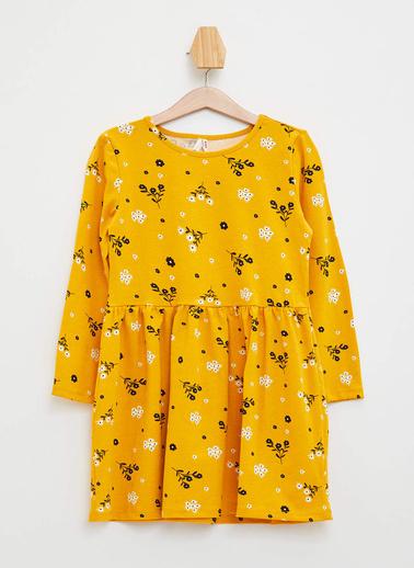 DeFacto Örme Elbise Sarı